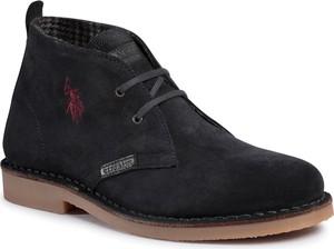 Granatowe buty zimowe U.S. Polo sznurowane