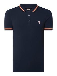 Granatowa koszulka polo Guess z bawełny z krótkim rękawem