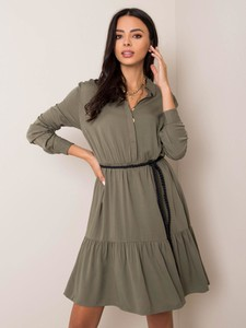 Sukienka Sheandher.pl z kołnierzykiem mini koszulowa