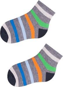 Yoclub skarpety bawełniane wzorowane krótkie