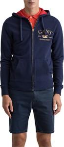 Niebieska bluza Gant z bawełny w młodzieżowym stylu