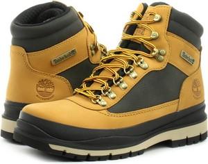 Żółte buty zimowe Timberland ze skóry