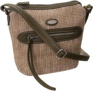 Brązowa torebka Rovicky ze skóry ekologicznej w wakacyjnym stylu
