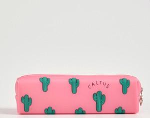 Sinsay - Piórnik w kaktusy - Różowy