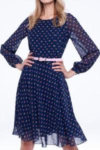 Sukienka L'AF z długim rękawem rozkloszowana