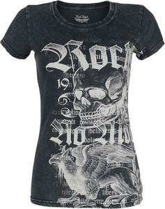 Czarny t-shirt Emp z bawełny z okrągłym dekoltem