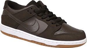 Brązowe buty sportowe Nike ze skóry w sportowym stylu
