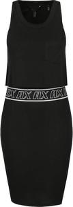 Sukienka Armani Exchange bez rękawów z okrągłym dekoltem w stylu casual
