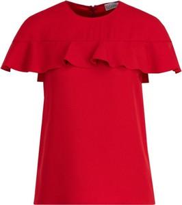 Bluzka Red Valentino z okrągłym dekoltem z krótkim rękawem w stylu casual