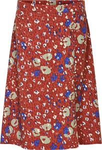 Czerwona spódnica Numph w stylu boho