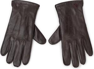 Brązowe rękawiczki Strellson