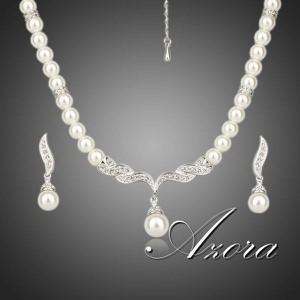 IZMAEL.eu Zestaw biżuterii Pearl AZORA - Srebrny
