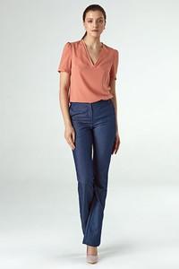 Niebieskie spodnie Colett w stylu klasycznym