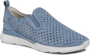 Buty sportowe Geox z zamszu z płaską podeszwą