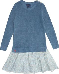 Sukienka dziewczęca POLO RALPH LAUREN z bawełny