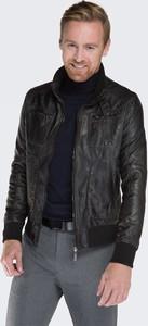 Czarna kurtka Wittchen w stylu casual ze skóry ekologicznej