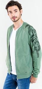 Zielona bluza Big Star w młodzieżowym stylu z bawełny