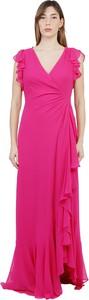 Sukienka Ralph Lauren z krótkim rękawem z dekoltem w kształcie litery v