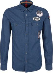 Niebieska koszula S.Oliver z jeansu z długim rękawem
