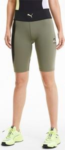 Zielone szorty Puma w sportowym stylu