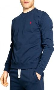 Niebieska bluza U.S. Polo z bawełny