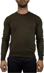 Sweter Peuterey w stylu casual z okrągłym dekoltem z dżerseju