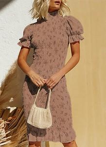 Brązowa sukienka Cikelly w stylu casual