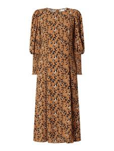 Sukienka Vila z okrągłym dekoltem w stylu casual z długim rękawem