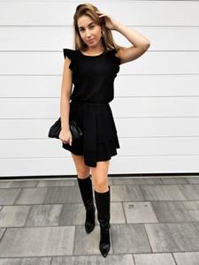 Czarna sukienka Perfe mini