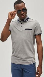Koszulka polo Diverse w stylu casual z bawełny z krótkim rękawem