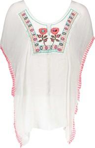Bluzka Summer Collection z okrągłym dekoltem z bawełny