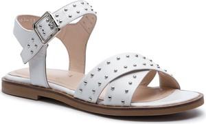 Sandały Badura ze skóry w stylu casual z płaską podeszwą