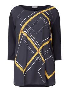 Granatowa bluzka Samoon w stylu casual