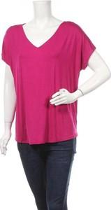 T-shirt Papermoon z krótkim rękawem z dekoltem w kształcie litery v w stylu casual