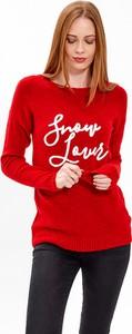 Czerwony sweter Gate w stylu casual