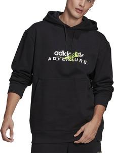Czarna bluza Adidas z bawełny w młodzieżowym stylu