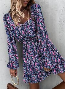 Sukienka Sandbella w stylu casual mini z długim rękawem