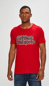 Czerwony t-shirt Guess Jeans