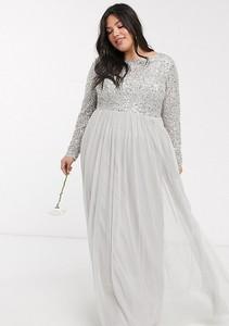 Sukienka Maya Plus z długim rękawem