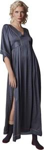 Sukienka Alessia Santi dla puszystych z długim rękawem maxi