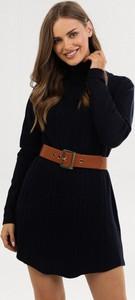Granatowa bluzka born2be w stylu casual