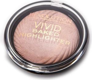 Makeup Revolution, Vivid Baked, rozświetlacz do twarzy Peach Lights, 7,5 g