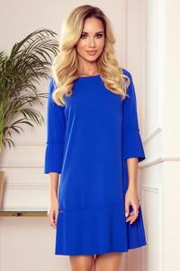 Niebieska sukienka NUMOCO mini z okrągłym dekoltem