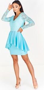 f0d3565b1b sukienka na wesele niebieska - stylowo i modnie z Allani