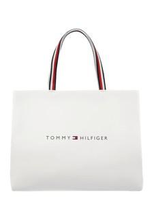 Torebka Tommy Hilfiger ze skóry ekologicznej z kolorowym paskiem duża