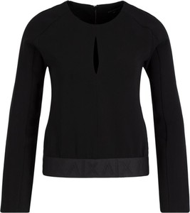 Czarna bluzka Armani Jeans z długim rękawem