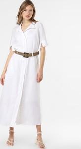 Sukienka Esprit z lnu maxi z dekoltem w kształcie litery v