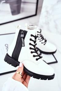 Buty dziecięce zimowe Vinceza sznurowane dla dziewczynek