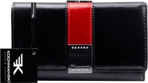 Czarny portfel Kochmanski Studio Kreacji® ze skóry