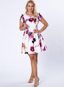 Sukienka Ptakmoda.com z krótkim rękawem mini